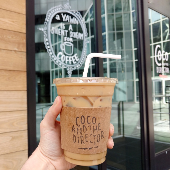 Iced Dirty Chai Latte from Coco and the Director