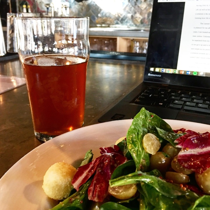 Pickled Grape Salad + Sow Your Oats Pale Ale from Suffolk Punch in Charlotte, NC