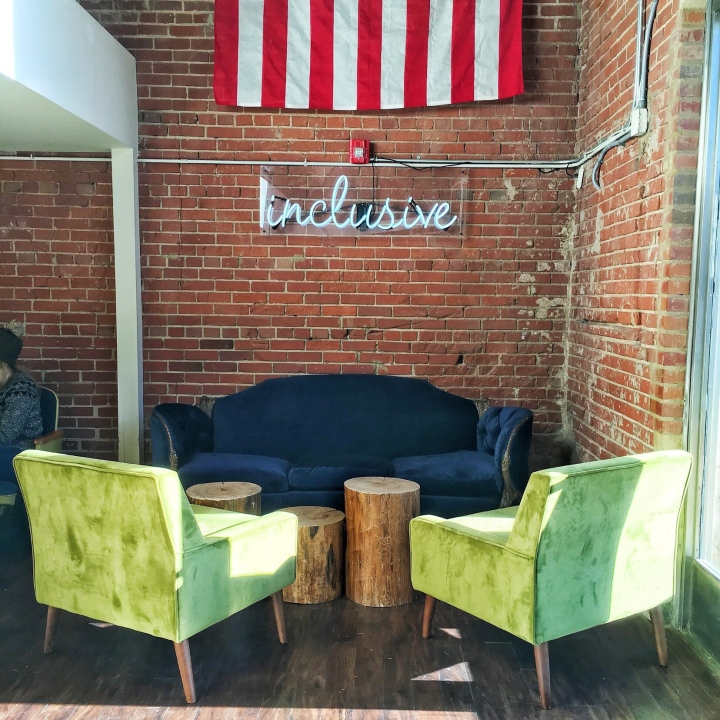 Cozy Seating Area at Lincoln's Haberdashery in Charlotte, NC