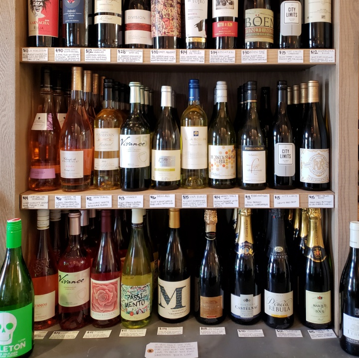 Some of the wines available for purchase in the market