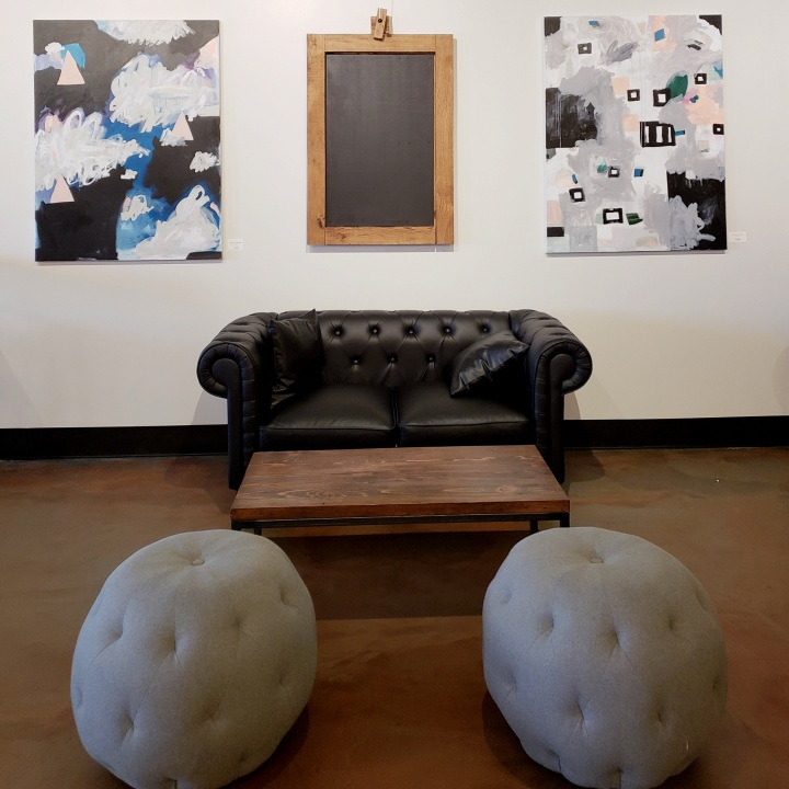 Seating area at The Gallery in Davidson, NC