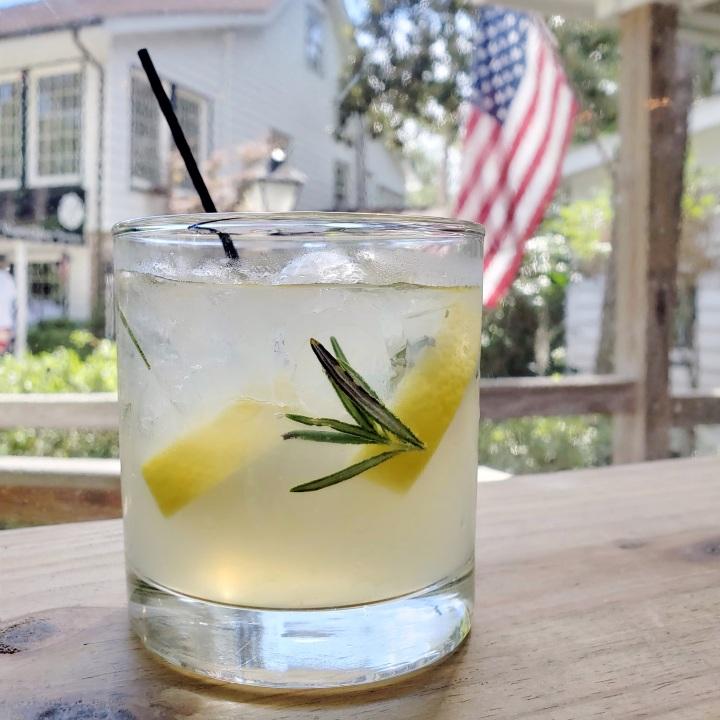 Rosemary Vodka Lemonade at BisQit in the Hammock Shops Village, Pawley's Island SC