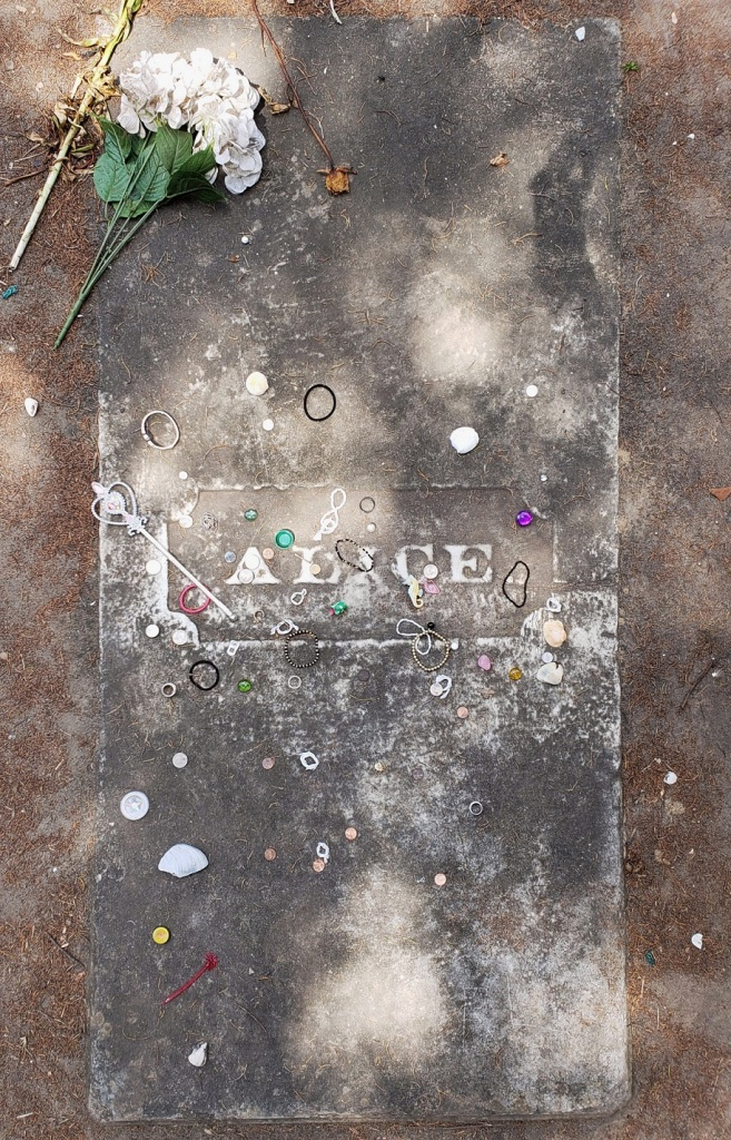 Alice Flagg's grave, All Saints Cemetery, Pawley's Island, SC