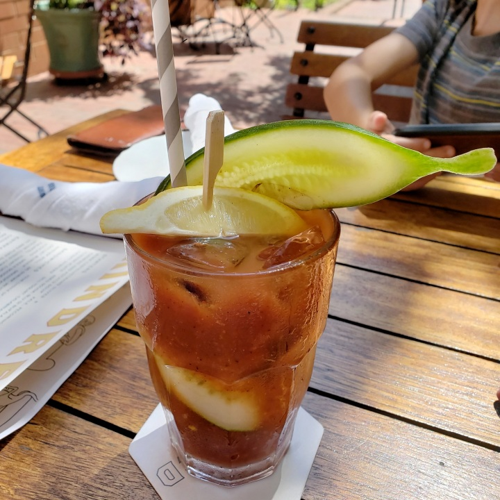 Bloody Mary at Kindred restaurant in Davidson, NC