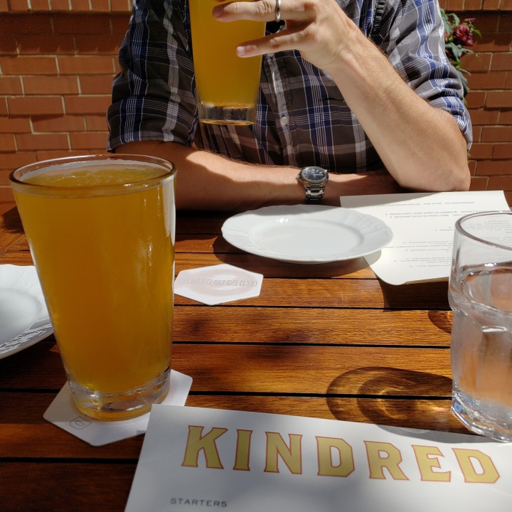 Juicy Jay by Legion Brewing at Kindred restaurant in Davidson, NC
